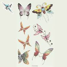 fashion butterfly pattern temporary tattoos 2016 cool