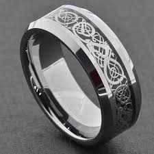 black wedding bands for him and tungsten carbide ring comfort fit wedding band men silver gold
