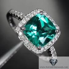 emerald engagement rings images Cushion cut emerald diamond pave halo engagement ring jpg