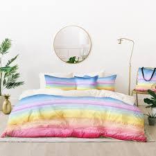 rainbow ombre duvet cover joy laforme