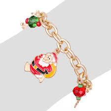 gold chain charm bracelet images Christmas bracelets gold chain charm bracelet pulseras mujer jpg
