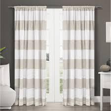 exclusive home darma linen sheer rod pocket window curtain panel