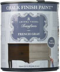 no prep kitchen cabinet paint amitha verma chalk finish paint no prep one coat fast drying diy makeover for cabinets furniture more 1 quart gray