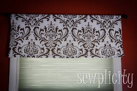 Modern Kitchen Valance Curtains by Quick U0026 Easy Lined Valance Sewplicity