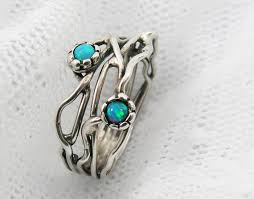 opal silver rings images Silver opal ring sterling silver organic design opal ring branch jpg