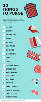 spring cleaning tips 20 things to purge organizing organizations and spring