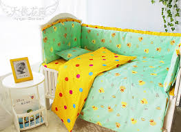 Crib Bedding Sets For Cheap Cute Yellow Duck Baby Quilt Patterns 100 Cotton Baby Bedding Set