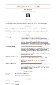 Business Manager Resume Sample by Owner Manager Resume Samples Visualcv Resume Samples Database