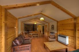 Log Cabin Interior Paint Colors by West Glacier Montana Cabin Accommodations Koa Arafen