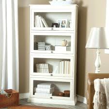 bookcase white glass bookcase sawyer white leaning 18 bookcase