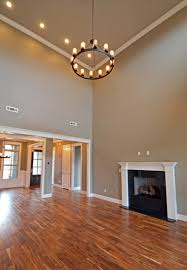open floor plan featuring acacia wood floors and contemporary