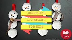 20 easy christmas ornament crafts for kids to make christmas