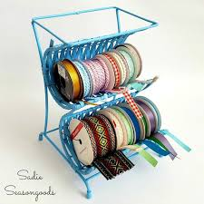 craft ribbon from wine rack to ribbon cradle easy thrifty craft room