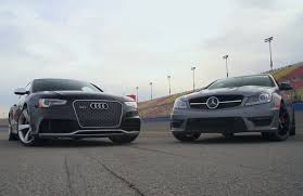 audi mercedes mercedes c63 amg 507 goes 2 with audi rs 5 motor trend wot