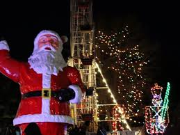 christmas lights train ride dec 17 theme park open featuring christmas festival of lights
