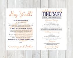 destination wedding itinerary welcome letter weekend itinerary wedding itinerary gold