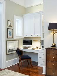 Small Built In Desk High Ceiling Home Office Ideas Photos Houzz