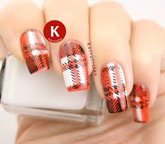 black white and orange tartan kerruticles