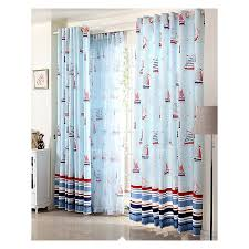 Baby Blue Curtains Curtains Print Baby Blue Nautical Great Room Curtains