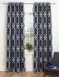set of 2 modern trendy interlock geometric curtains panels drapes