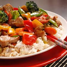 The Mediterranean Vegan Kitchen - vegetable pork stir fry recipe from the mediterranean kitchen