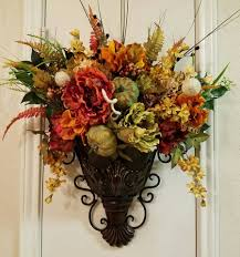 Flower Wall Sconces Fall Sconce Floral Wall Sconce Thanksgiving Sconce