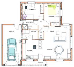 plan de maison plain pied 2 chambres plan de maison 2 chambres plan maison garage 4 chambres plan con