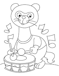 ferret with drum coloring page download free ferret with drum