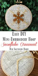 diy snowflake ornament our southern home