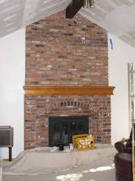Living Room Red Brick Fireplace Updating A Red Brick Fireplace Home Design Ideas
