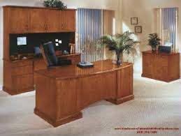 modern wood office furniture in cherry woods