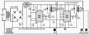 simple traffic light controller circuit diagram