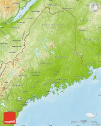 Physical Map Of The United States by Physical Map Of Maine