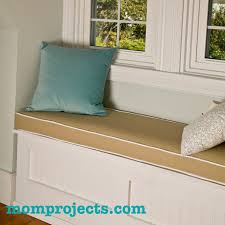 how to make a window seat cushion with piping mom projects
