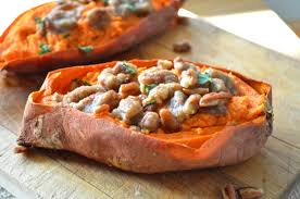 thanksgiving yams recipe twice baked sweet potatoes with pecan streusel apple of my eye