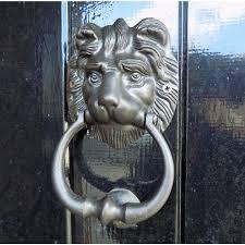 lion door knocker classic black cast metal lion door knocker