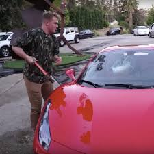 jake paul car show me the money jake paul damages a 292 000 rental car for fun