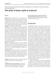 the order of draw myth or science pdf download available