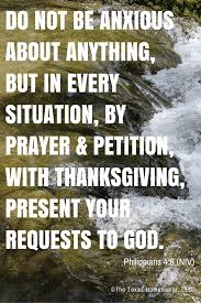 not be anxious about anything but in every situation by prayer