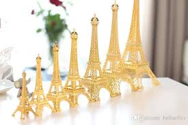 Paris Centerpieces 2017 Romantic Gold Paris Eiffel Tower Model Alloy Eiffel Tower