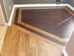 Colored Laminate Flooring Hardwood Border Design Idea For Combining Two Different Woods