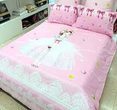 Girls Queen Size Bedding by Norson Cute Girls Bedding Set Queen Size Korean White Lace Ruffle