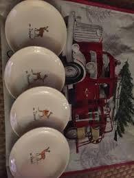dunn reindeer set of 4 plates mercari buy sell