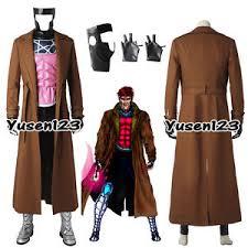 Gambit Halloween Costume Men Remy Etienne Gambit Cosplay Costume Overcoat Pants Vest