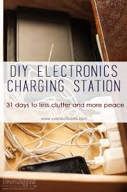 Build Your Own Charging Station A Place For Electronic Devices Easy Diy Charging Station