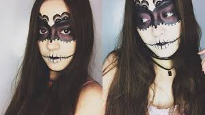 creepy lace mask halloween make up tutorial youtube