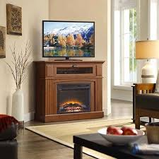 Oak Corner Fireplace by Top 5 Corner Electric Fireplace Tv Stands Under 500