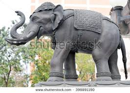 elephant statue stucco elephant sculpture stock photo 399891190 shutterstock