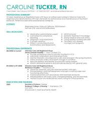creative resume exles 2015 nurse and health best intensive care unit registered nurse resume exle livecareer