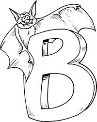 letter b coloring pages fablesfromthefriends com